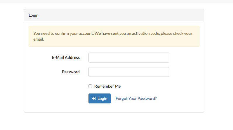 Laravel 5 2 Email Verification with Activation Code